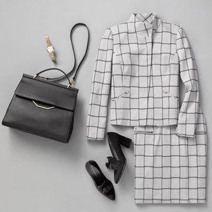 Windowpane Check Stretch Suit Jacket